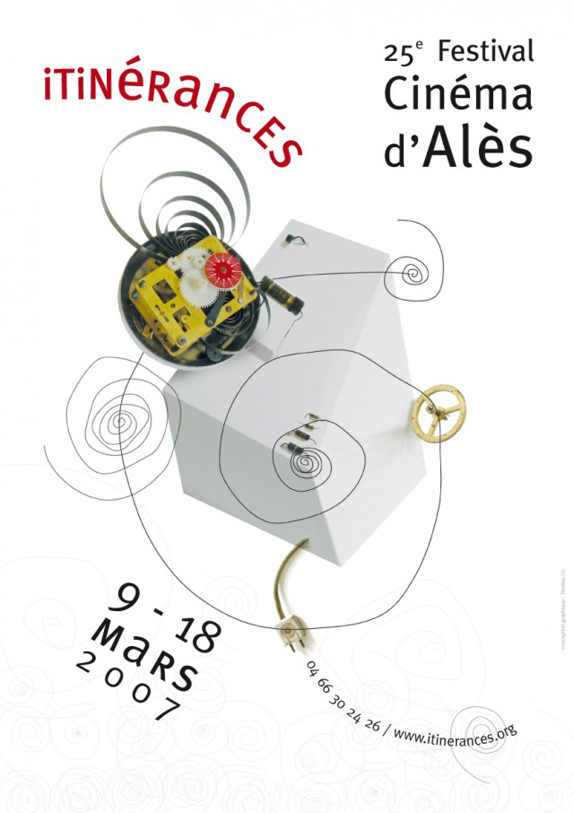 Projet d'affiche pour le Festival de cinéma d'Alès Itinérance